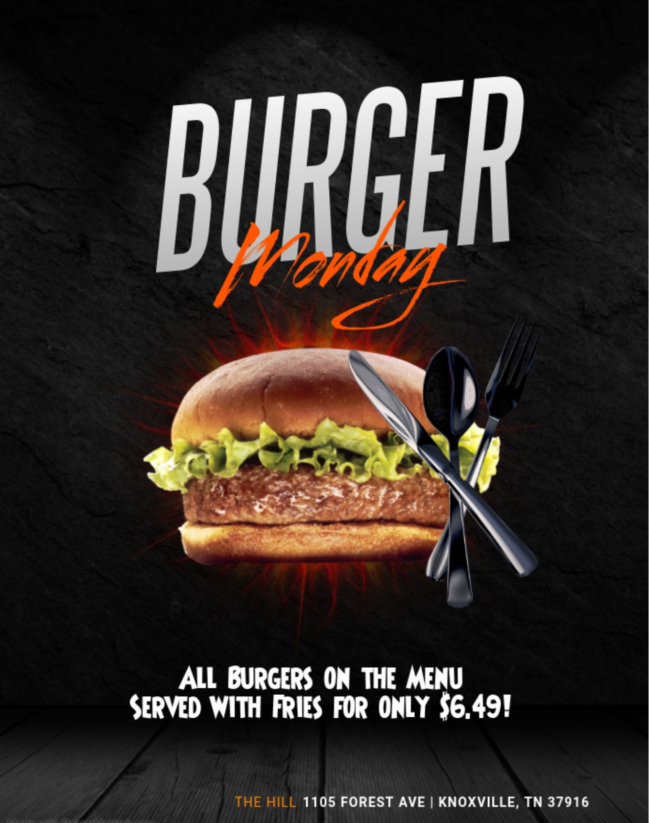 Weekly Special Monday Burger