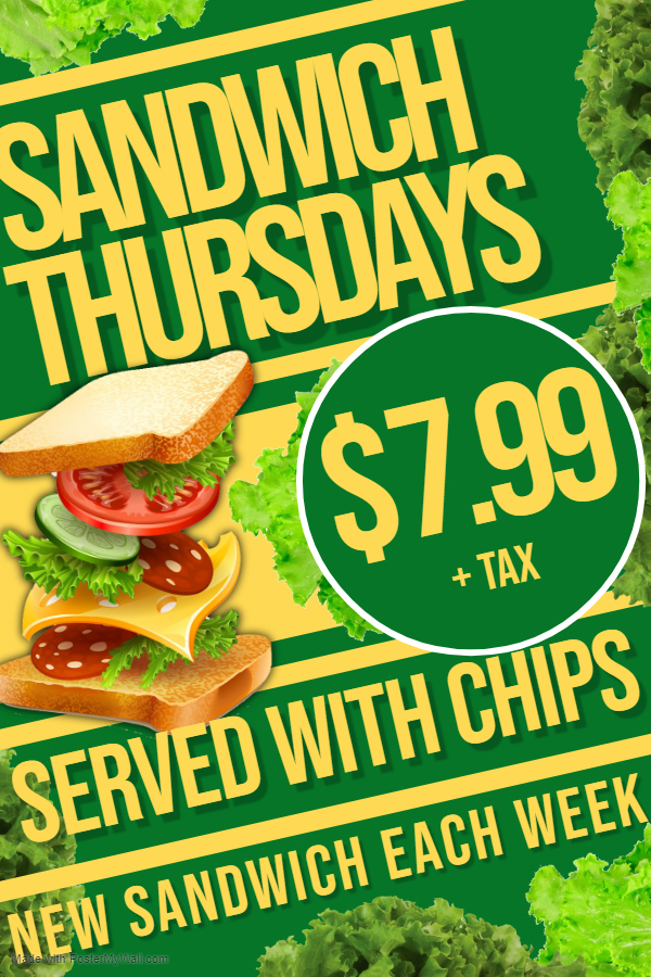 Weekly Special Thursday Sandwich
